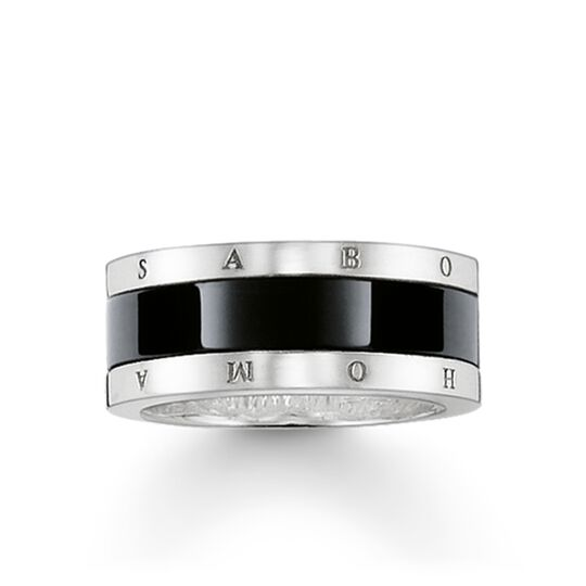band ring black ceramic from the Glam & Soul collection in the THOMAS SABO online store