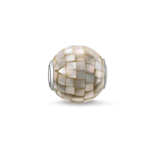 "Bead ""grey mother-of-pearl"" from the Karma Beads collection in the THOMAS SABO online store"