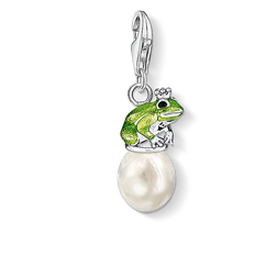 Charm pendant frog on pearl from the  collection in the THOMAS SABO online store