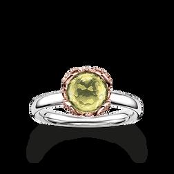 """solitario """"flor de loto verde"""" de la colección Glam & Soul en la tienda online de THOMAS SABO"""