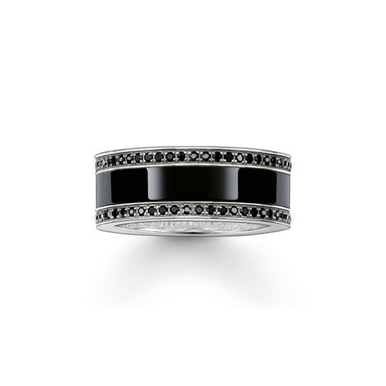 band ring black ceramic pavé from the  collection in the THOMAS SABO online store