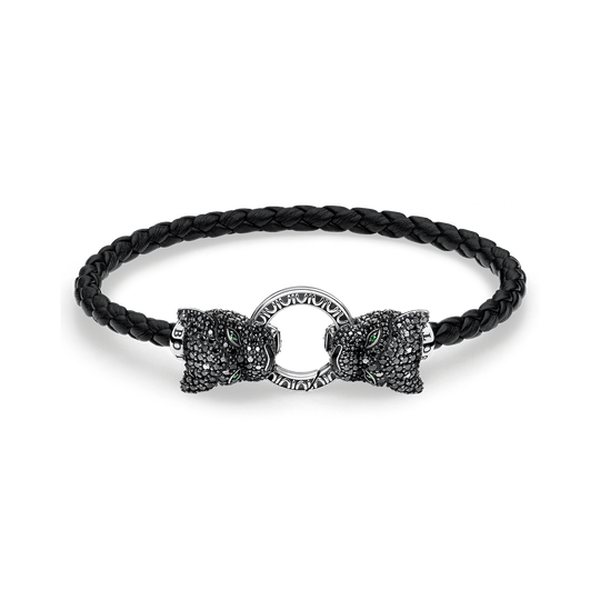 Bracelet cuir Black Cat de la collection Rebel at heart dans la boutique en ligne de THOMAS SABO