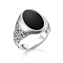 bague noir de la collection Rebel at heart dans la boutique en ligne de THOMAS SABO