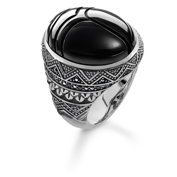"ring ""black scarab"" from the Rebel at heart collection in the THOMAS SABO online store"