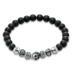 "bracelet ""skull"" from the Rebel at heart collection in the THOMAS SABO online store"