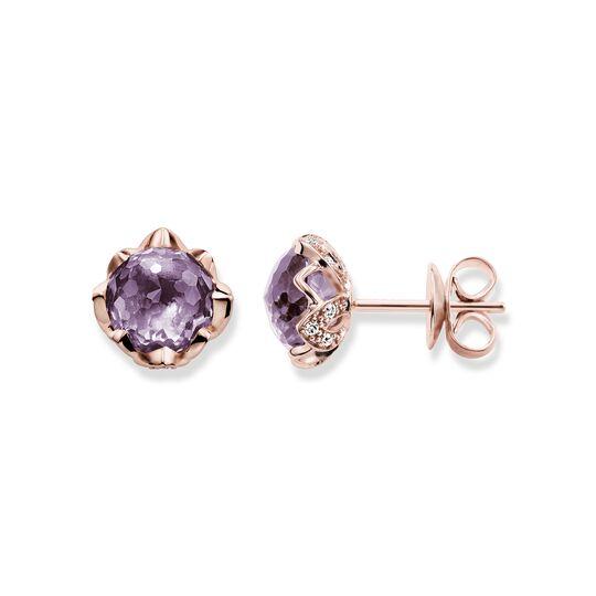 """pendientes """"flor de loto malva"""" de la colección Glam & Soul en la tienda online de THOMAS SABO"""