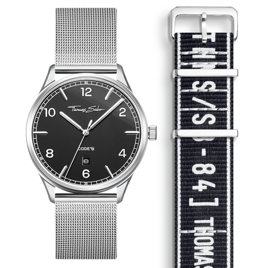 SET CODE TS black watch & black Urban bracelet from the  collection in the THOMAS SABO online store
