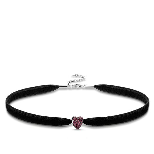 """Choker """"red pavé heart"""" from the Glam & Soul collection in the THOMAS SABO online store"""