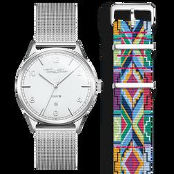 SET CODE TS weiße Uhr & buntes Grafikmusterarmband aus der  Kollektion im Online Shop von THOMAS SABO