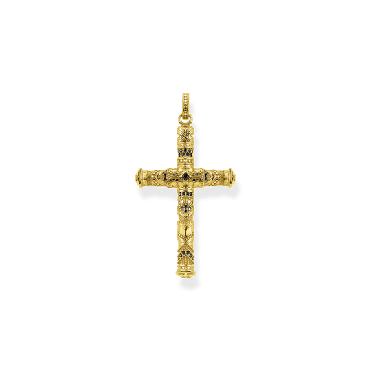 Pendant cross gold from the Rebel at heart collection in the THOMAS SABO online store
