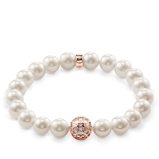 "pearl bracelet ""lotus flower"" from the Glam & Soul collection in the THOMAS SABO online store"