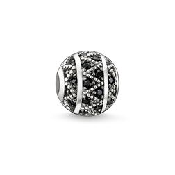Bead zigzag nero from the Karma Beads collection in the THOMAS SABO online store