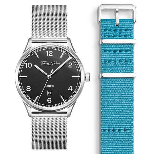 SET CODE TS svart klocka & turkos armband ur kollektionen  i THOMAS SABO:s onlineshop