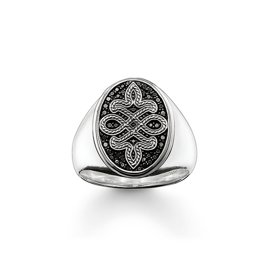 signet ring love knot from the Rebel at heart collection in the THOMAS SABO online store