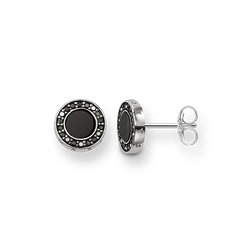 """ear studs """"Classic pavé black"""" from the Glam & Soul collection in the THOMAS SABO online store"""
