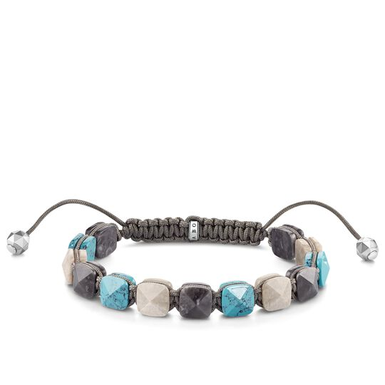 "bracciale ""effetto borchia turchese"" from the Glam & Soul collection in the THOMAS SABO online store"