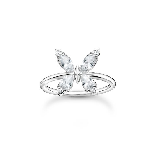 Bague papillon pierres blanches de la collection Charming Collection dans la boutique en ligne de THOMAS SABO