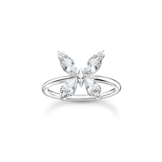 Ring butterfly white stones from the Charming Collection collection in the THOMAS SABO online store