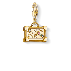 "Charm pendant ""Vintage Suitcase"" from the  collection in the THOMAS SABO online store"