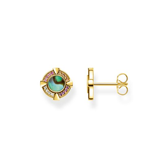 ear studs abalone mother-of-pearl gold from the  collection in the THOMAS SABO online store