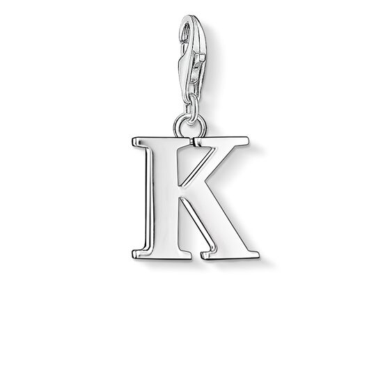 Charm pendant letter K from the  collection in the THOMAS SABO online store
