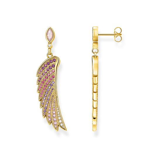Earrings bright gold-coloured hummingbird wing from the  collection in the THOMAS SABO online store