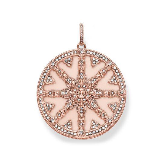 colgante Karma Wheel rosa con diamante de la colección  en la tienda online de THOMAS SABO