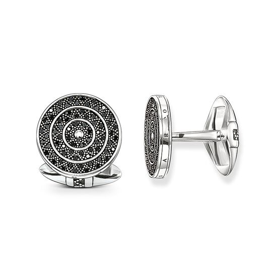 """cufflinks """"diamond zig zag"""" from the Rebel at heart collection in the THOMAS SABO online store"""