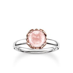 "anello solitario ""fiore di loto rosa"" from the Glam & Soul collection in the THOMAS SABO online store"
