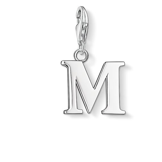 Charm pendant letter M from the Charm Club collection in the THOMAS SABO online store