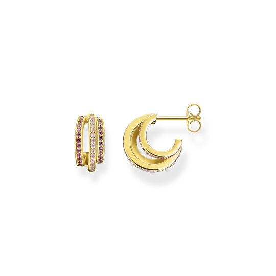 Hoop earrings gold rings with colourful stones from the  collection in the THOMAS SABO online store