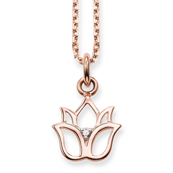 "necklace ""lotus flower"" from the Glam & Soul collection in the THOMAS SABO online store"