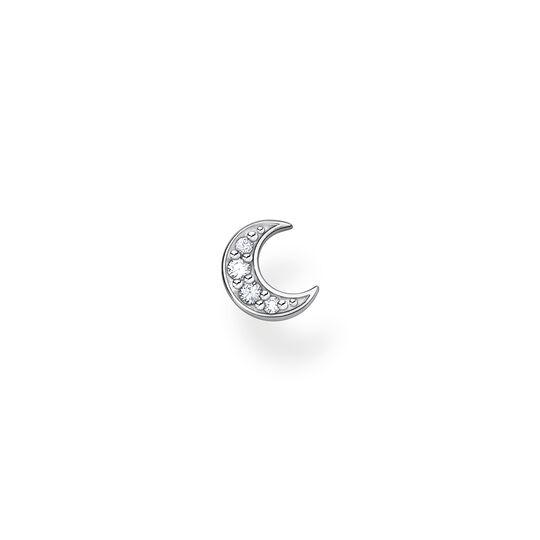 Einzel Ohrstecker Mond pavé silber aus der Charming Collection Kollektion im Online Shop von THOMAS SABO