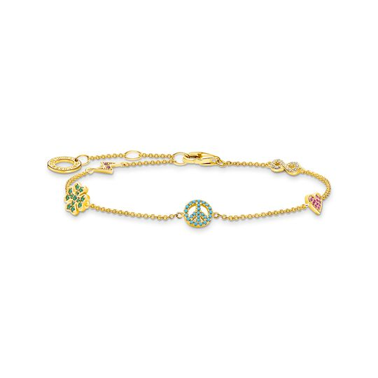 Bracelet with symbols multicoloured gold from the Charming Collection collection in the THOMAS SABO online store
