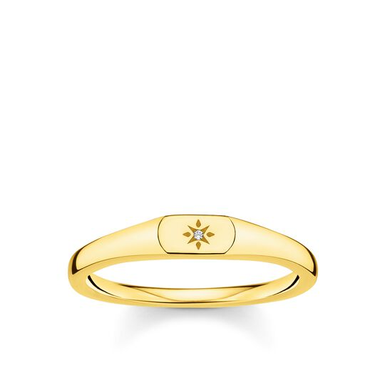Ring star gold from the Charming Collection collection in the THOMAS SABO online store