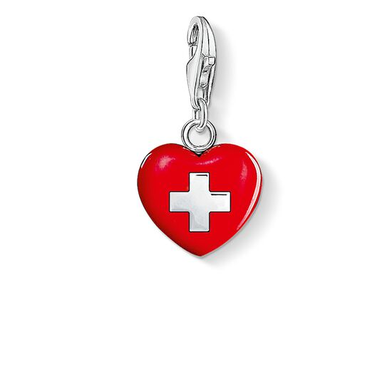 "ciondolo Charm ""cuore Svizzera"" from the  collection in the THOMAS SABO online store"
