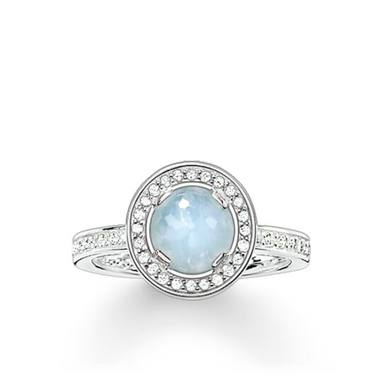 """solitaire ring """"Light of Luna light-blue"""" from the Glam & Soul collection in the THOMAS SABO online store"""