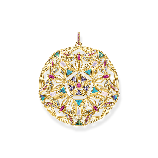 pendant amulet kaleidoscope dragonfly gold from the Glam & Soul collection in the THOMAS SABO online store
