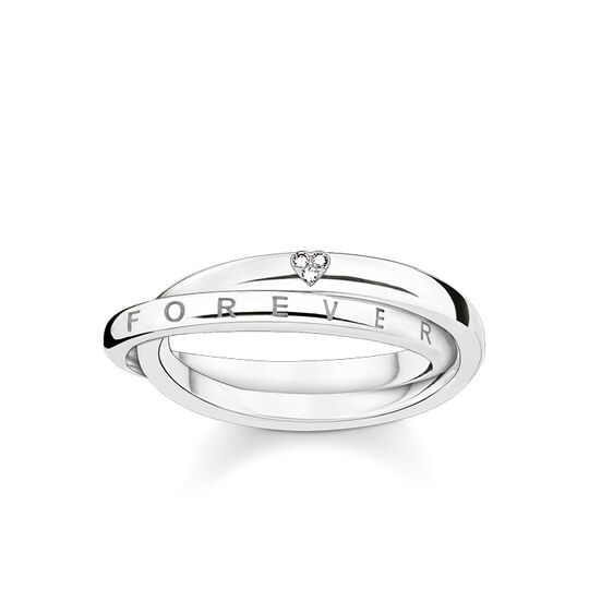 """ring """"Together Forever heart"""" from the Glam & Soul collection in the THOMAS SABO online store"""