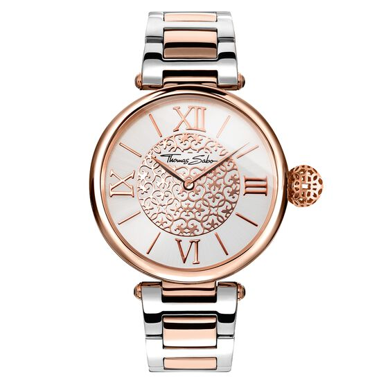 Rose Gold & Silver Watch