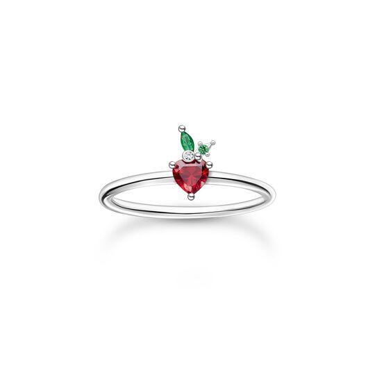 Ring Erdbeere silber aus der Charming Collection Kollektion im Online Shop von THOMAS SABO