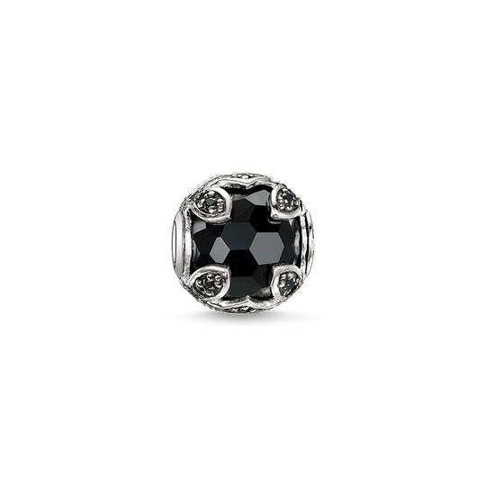 Bead black lotus from the Karma Beads collection in the THOMAS SABO online store