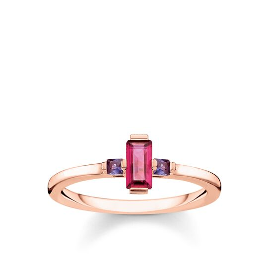 ring Stone baguette cut, red from the Glam & Soul collection in the THOMAS SABO online store