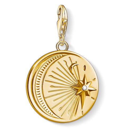 """Charm pendant """"Vintage MOON and STAR"""" from the  collection in the THOMAS SABO online store"""