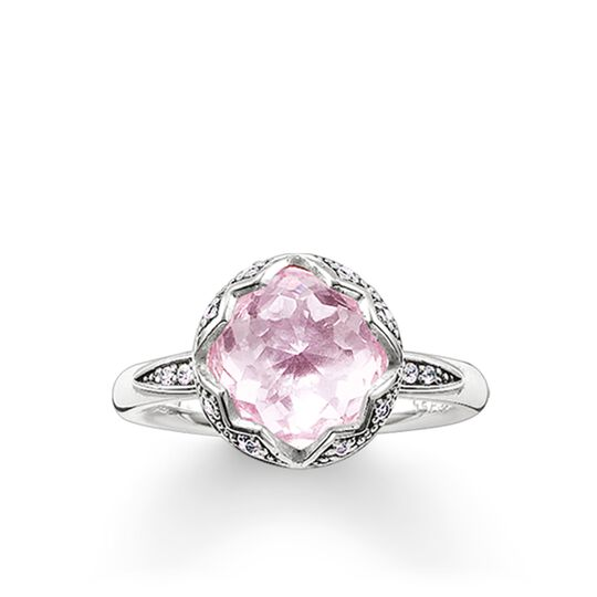 "solitaire ring ""pink lotus"" from the Glam & Soul collection in the THOMAS SABO online store"