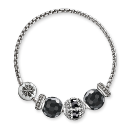 "bracelet ""black skulls"" from the Karma Beads collection in the THOMAS SABO online store"