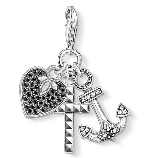 Charm pendant cross, heart, anchor from the Charm Club collection in the THOMAS SABO online store