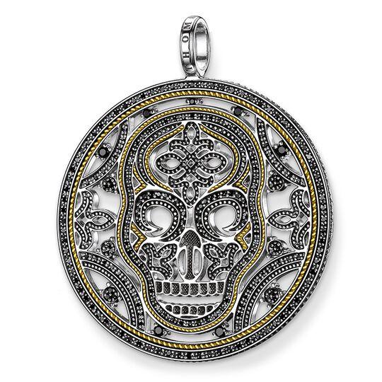 pendentif tête de mort avec diamants de la collection Rebel at heart dans la boutique en ligne de THOMAS SABO