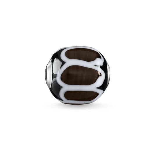 Bead Glass Bead Black, white from the Karma Beads collection in the THOMAS SABO online store