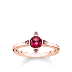 ring Colourful stones, rose-coloured from the Glam & Soul collection in the THOMAS SABO online store